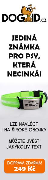 DOGID.cz Jediná známka pro psy, která necinká! 160x600